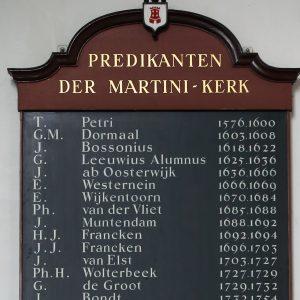 De eerste 32 predikanten